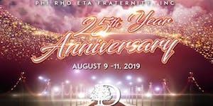 Phi Rho Eta Fraternity Inc. 25th Anniversary - Maroon...