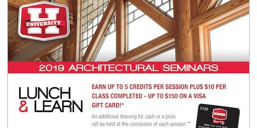 2019 Architectural Seminars