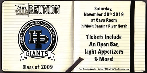 Highland Park High School Class of 2009: Ten Year Reunion