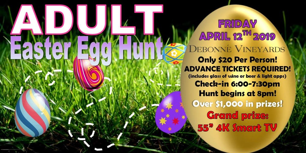 Sold Out Adult Easter Egg Hunt Tickets Fri Apr 12 2019 At 800