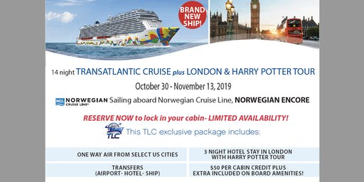 14 night Transatlantic Cruise plus London & HARRY POTTER TOUR