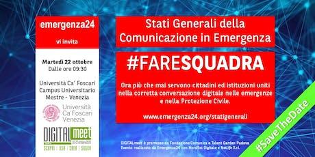 Stati Generali della Comunicazione di Emergenza biglietti