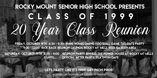 RMSH Class of 1999 20 Year Class Reunion Weekend Party