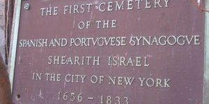 The Jewish Community of Colonial New Amsterdam -A Walking Tour