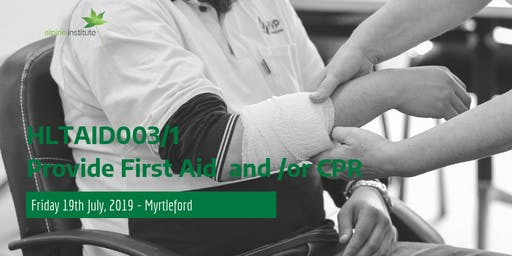 HLTAID001 - Provide Cardiopulmonary Resuscitation (CPR) 19th July 2019 - Myrtleford - SOLD OUT