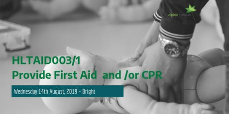HLTAID001 - Provide Cardiopulmonary Resuscitation (CPR)14th August 2019 - Bright tickets