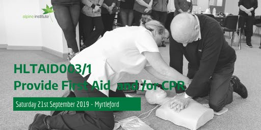HLTAID001 - Provide Cardiopulmonary Resuscitation (CPR) 21st September 2019 - Myrtleford