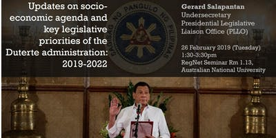Updates on socio-economic agenda and key legislative priorities of the Duterte administration: 2019-2022