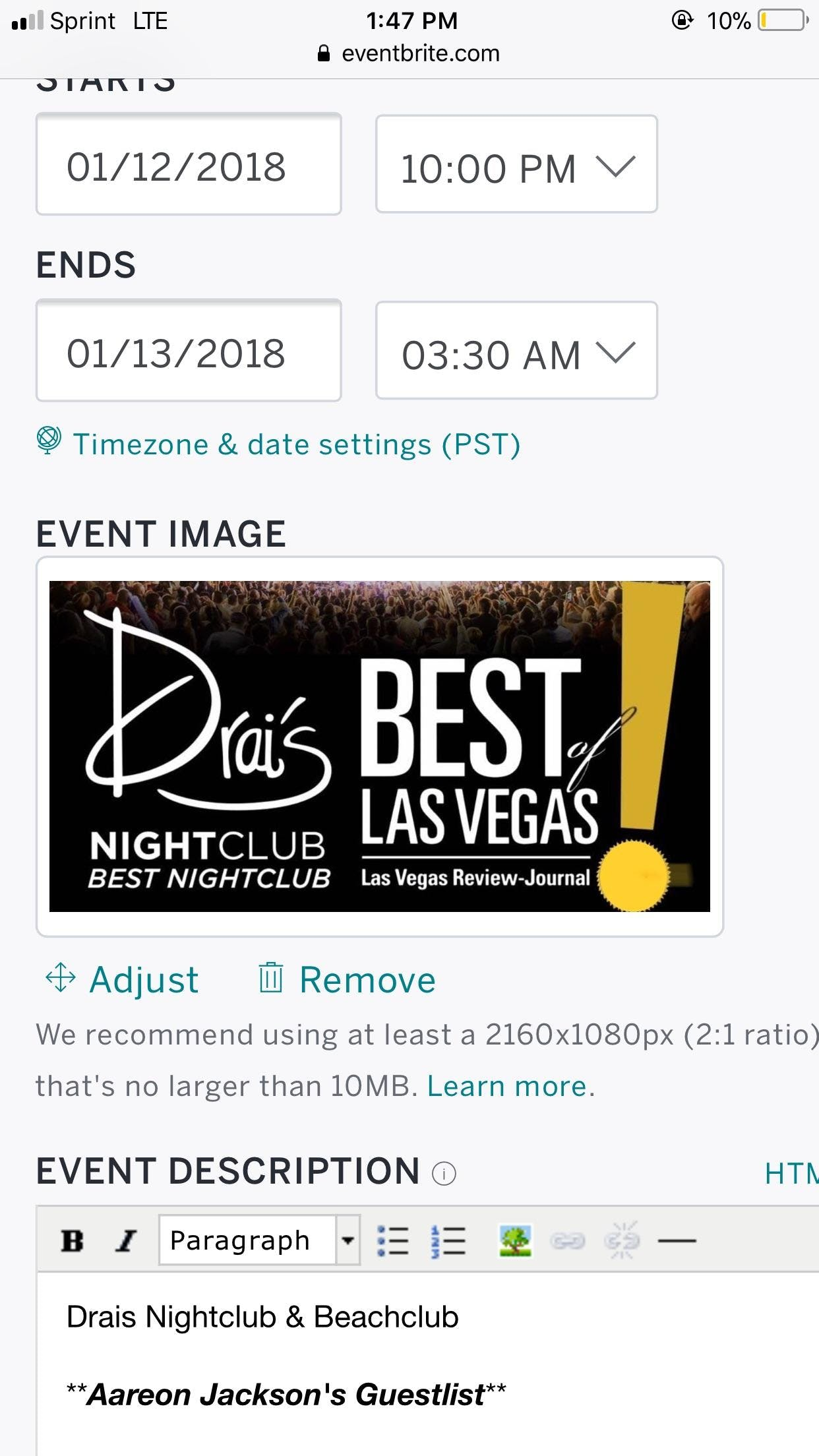 Big Sean Live Drais Nightclub Guestlist