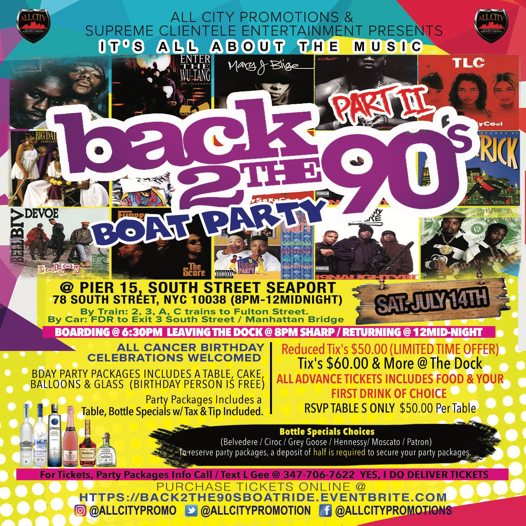 BACK TO THE 90's BOAT RIDE PT3, Fri 7/26 @ PI