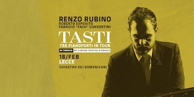 Renzo Rubino / TASTI – Tre pianoforti in tour