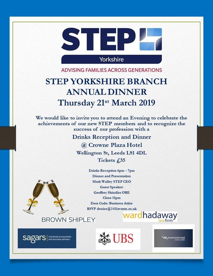 STEP Yorkshire Branch Annual Dinner