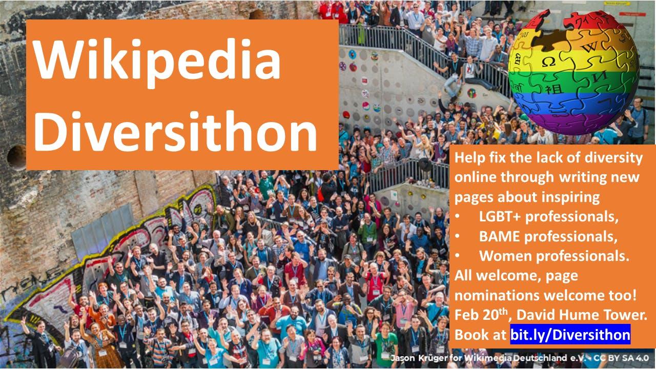 Wikipedia Diversithon - celebrating diversity in science and Scottish history