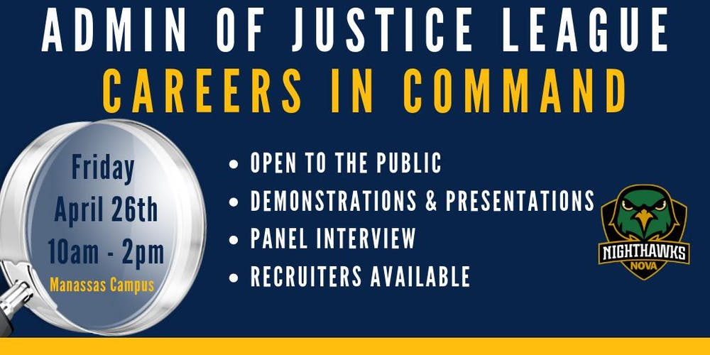 Nvcc Manassas Campus Map.Administration Of Justice League Careers In Command Tickets Fri