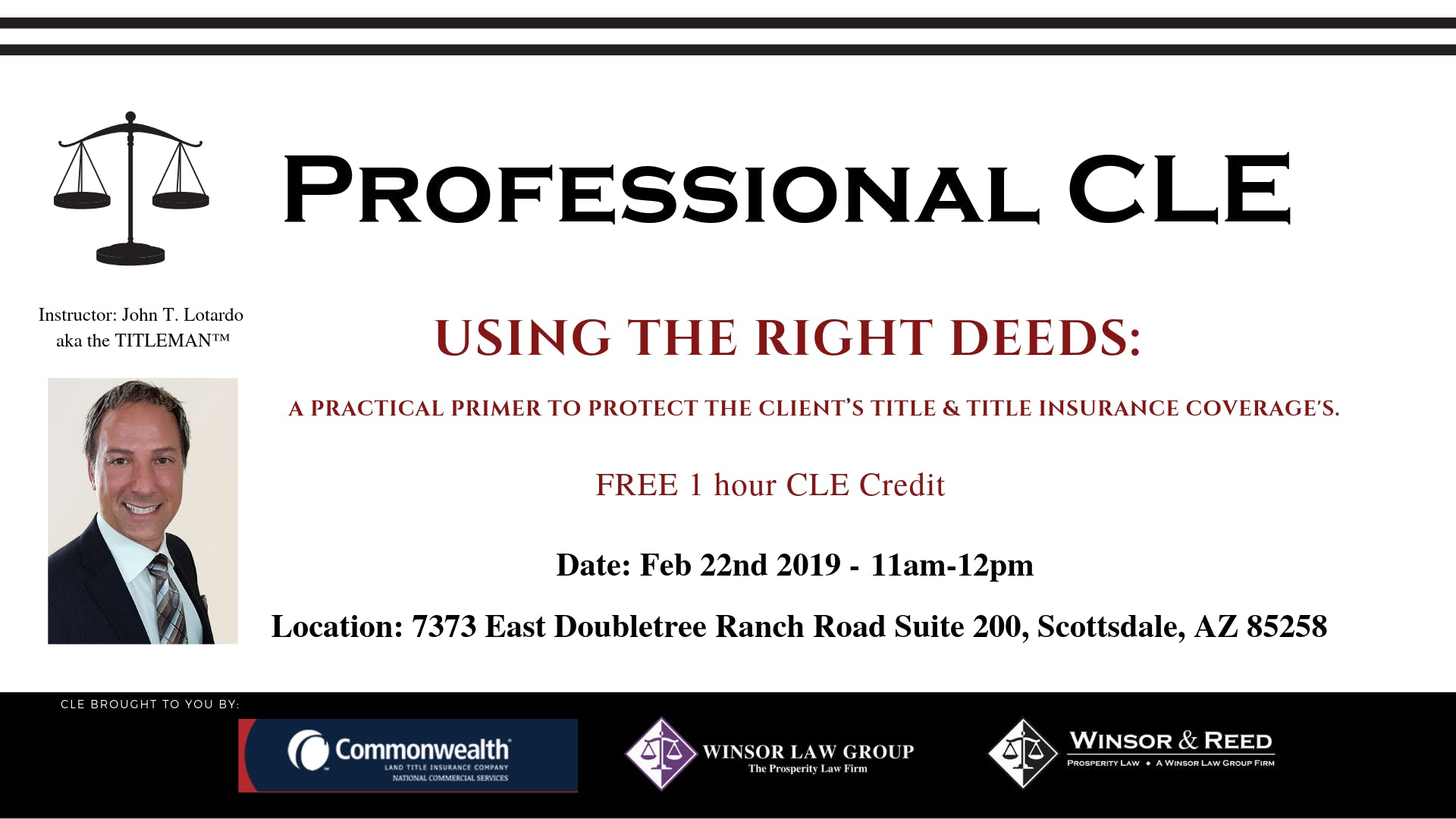 FREE CLE - USING THE RIGHT DEEDS