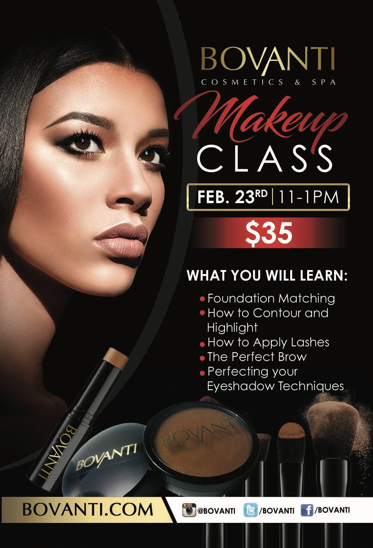 Bovanti Makeup Class
