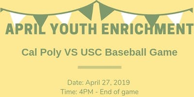 April Youth Enrichment - Cal Poly Baseball Game