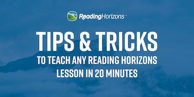 Tips & Tricks - Reading Horizons Workshop (K-1)