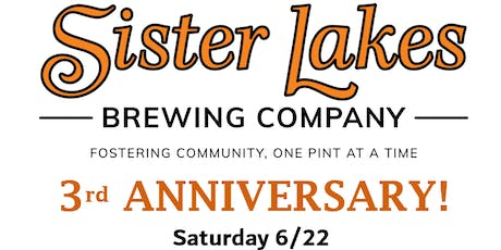 Sister Lakes Brewing Company: 3rd Anniversary Party tickets