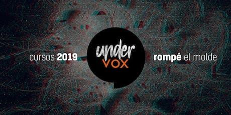 Cursos UnderVox 2019 entradas