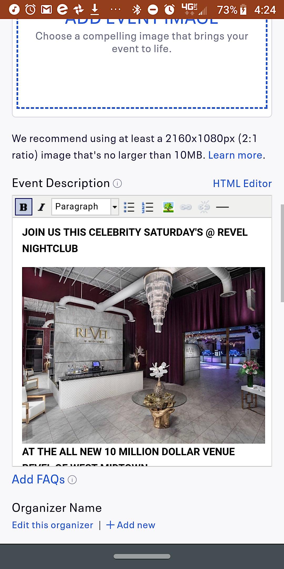 ATL's #1 Saturday Night Party! Celebrity Saturday's @REVEL! RSVP NOW! (SWIRL)