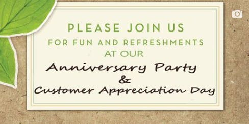 Anniversary & Customer Appreciation Day