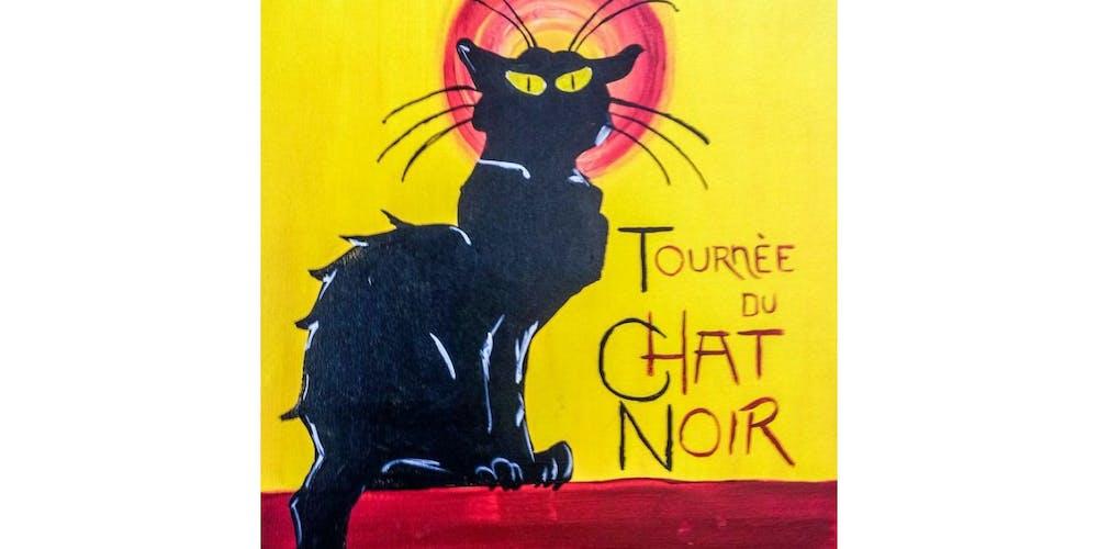 2112681e01b Le Chat Noir Paint   Sip Night - Art Painting