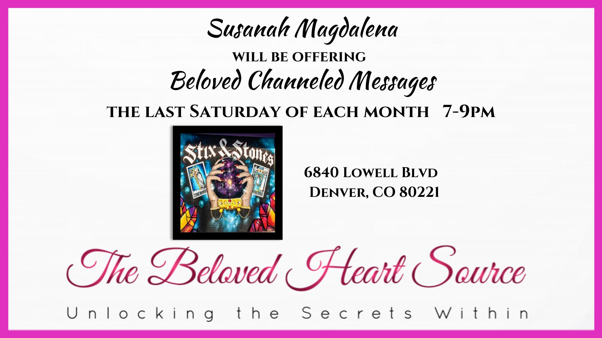 Beloved Channeled Messages w/Susanah Magdalen