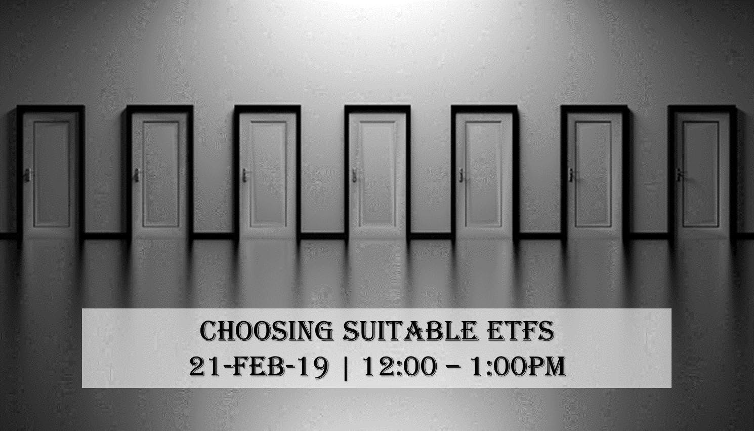 Choosing suitable ETFs