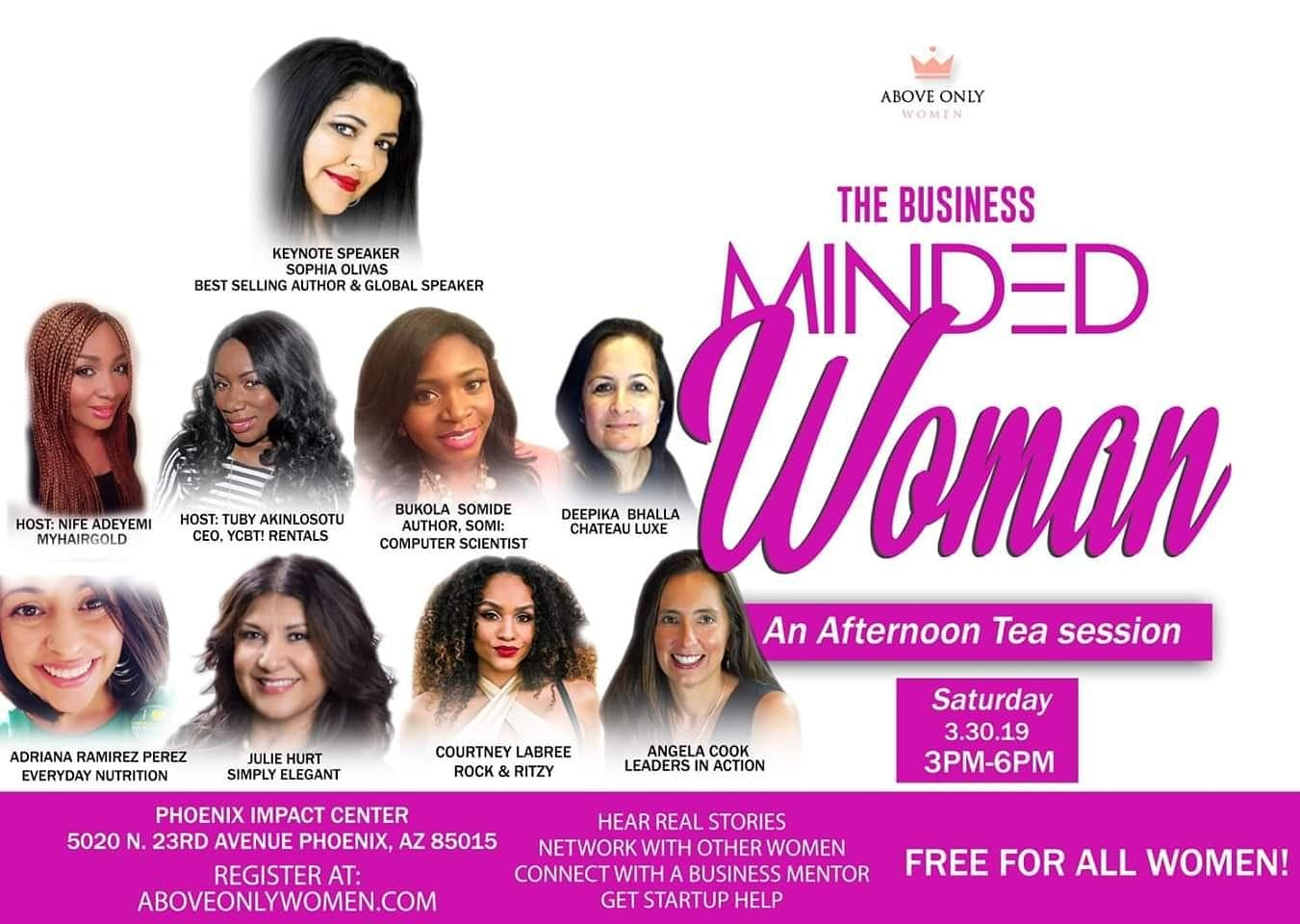 The Business Minded Woman: An Afternoon Tea Workshop & Networking Session