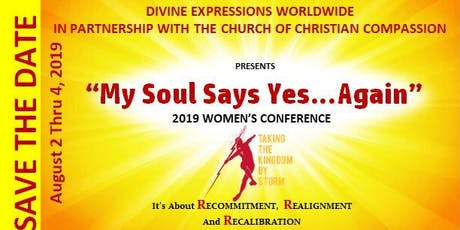 """MY SOUL SAYS YES ... AGAIN"" tickets"