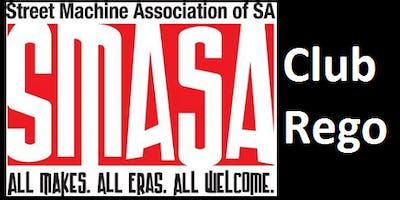 SMASA Club Rego, Monday 18th February 2019, 6:00pm to 6:30pm