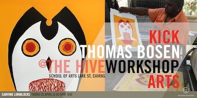 Carving Linoblocks | Printmaking Workshop with Thomas Bosen