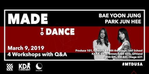 与Bae Yoonjung和Park Junhee一起制作跳舞KPOP研讨会