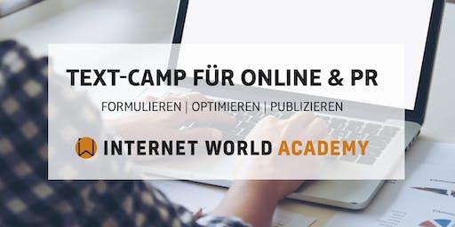 Text-Camp für Online & PR