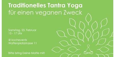 Yoga für einen veganen Zweck
