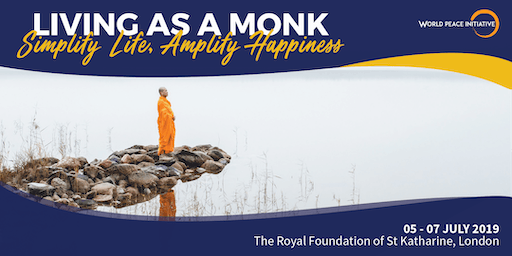 """3-day Meditation Retreat """"Living as a Monk: Simplify Life, Amplify Happiness"""""""