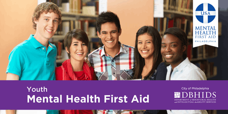Youth Mental Health First Aid @ PARR (August 29 & August 30, 2019) tickets