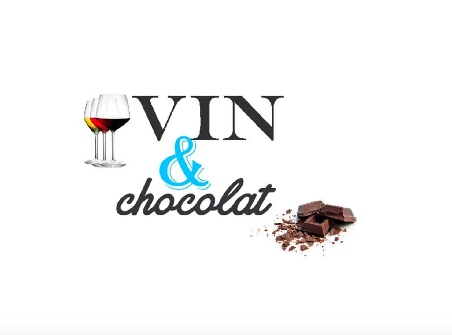 Dégustation de vin et chocolat