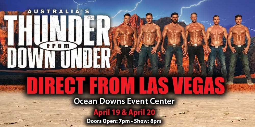 Thunder From Down Under Tickets Fri Apr 19 2019 At 800 Pm