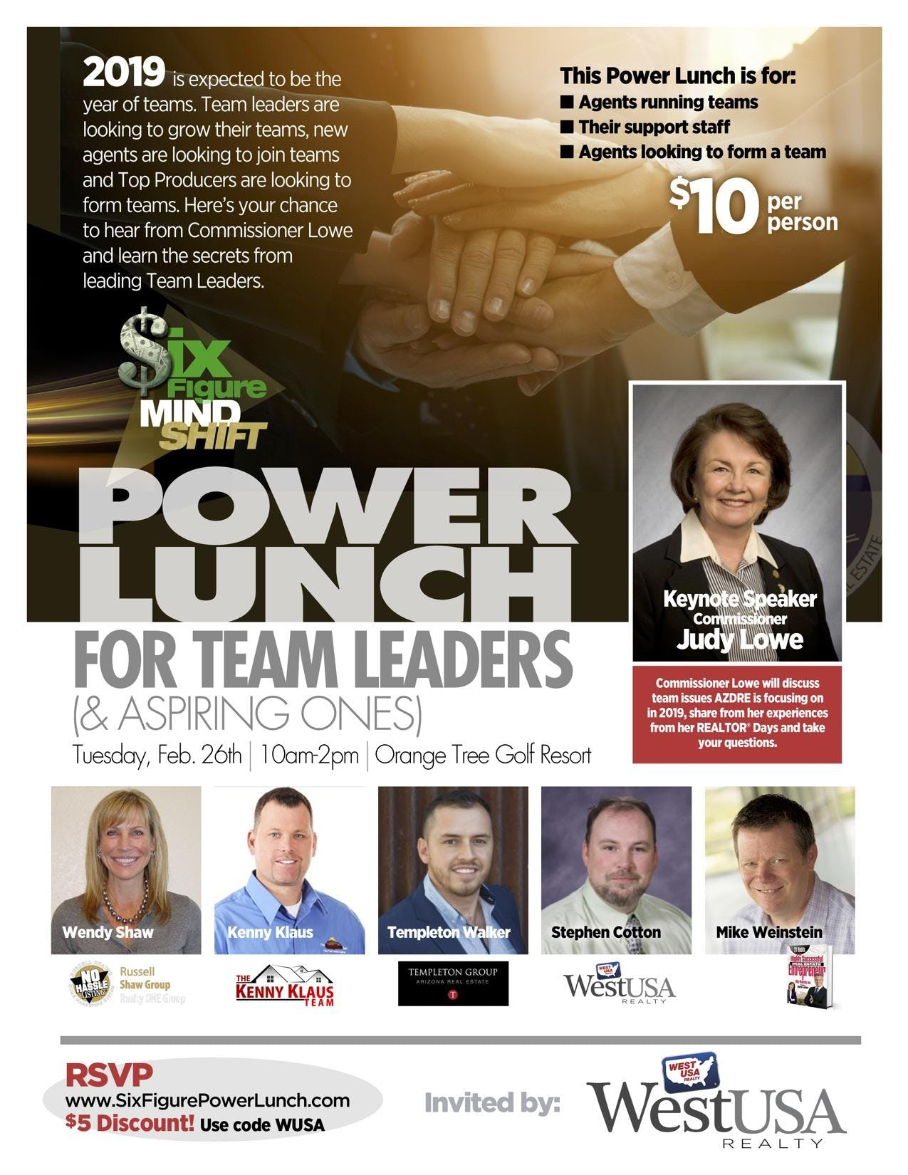 Six Figure Mind Shift Power Lunch for Teams
