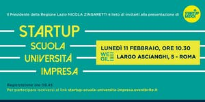 Startup: scuola, università, impresa