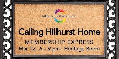 Hillhurst United Church Membership Class