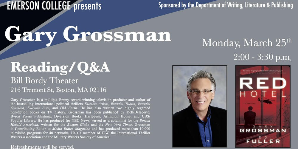Gary Grossman Reading Qa And Signing Registration Mon Mar 25