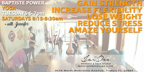 Baptiste Power Yoga at Jai Dee in Tampa tickets