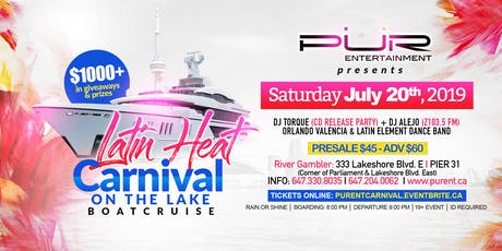 LATIN HEAT -CARNIVAL ON THE LAKE BOAT CRUISE 2019 tickets