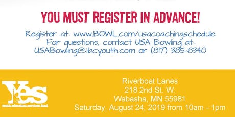 FREE USA Bowling Coach Certification Seminar - Riverboat Lanes, Wabasha, MN tickets