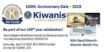Kiwanis Club of Brantford - 100th Anniversary Gala -2019