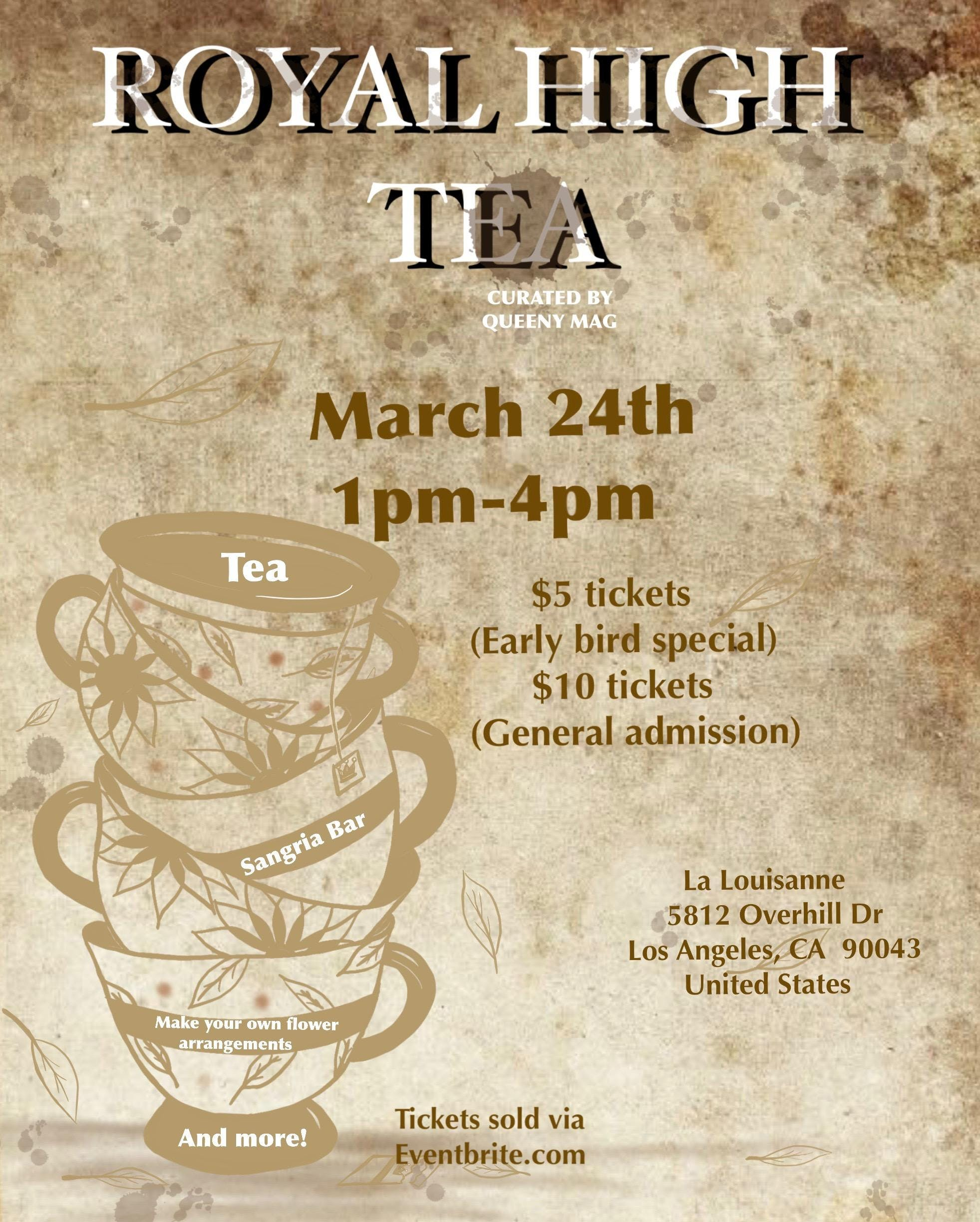 Royal Tea Party 5812 Overhill Dr