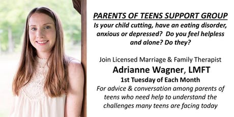 PARENTS OF TEENS SUPPORT GROUP- 1st Tuesday of Month with Adrianne Wagner, LMFT tickets